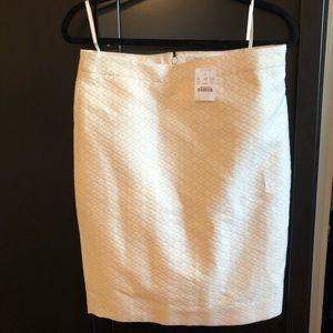 J. Crew White/Tan pencil skirt